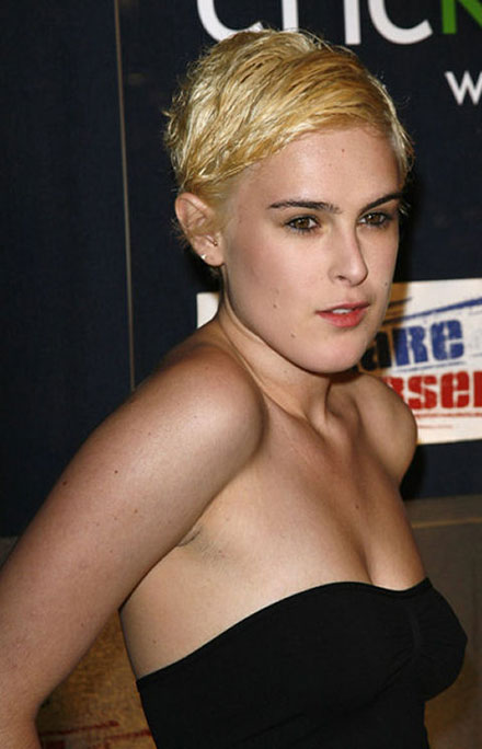 Rumer Willis makes an ugly blonde