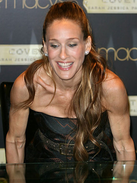 Five female celebrities with least attractive arms - Sarah Jessica Parker