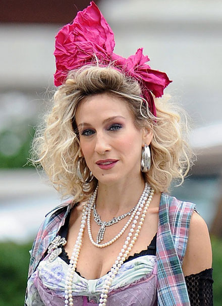Sarah Jessica Parker makes an ugly blonde