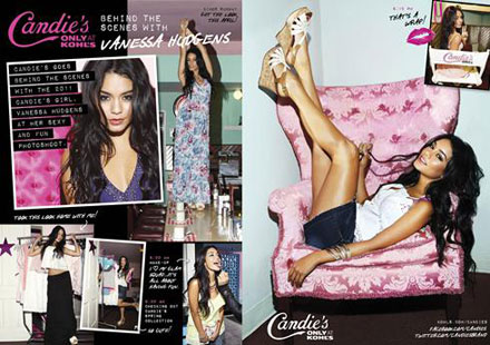 Vanessa Hudgens is the new spokesperson for Candie's Spring/ Summer 2011 ad campaign, sold at Kohl's