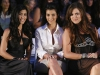 Kourtney Kardashian, Kloe Kardashian and Kim Kardashian attend t