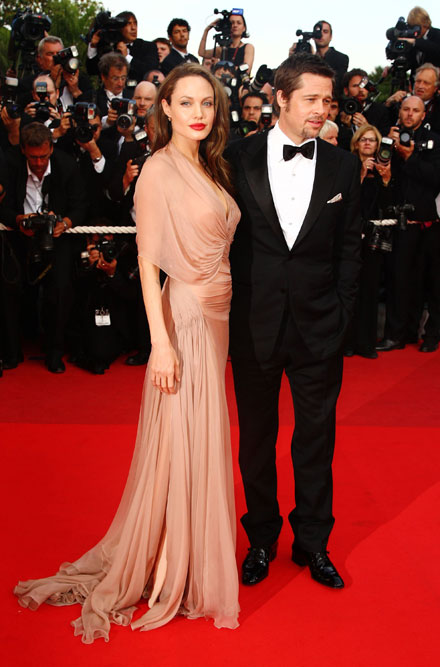 Angelina Jolie and Brad Pitt premiere Inglorious Basterds in Cannes