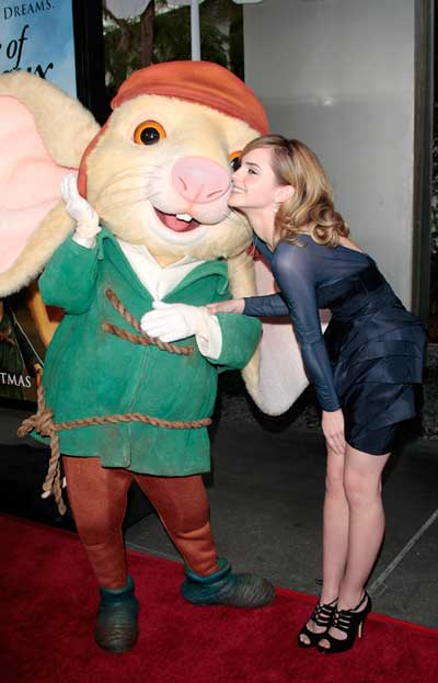 Emma Watson premieres The Tale of Despereaux on December 7, 2008 in LA