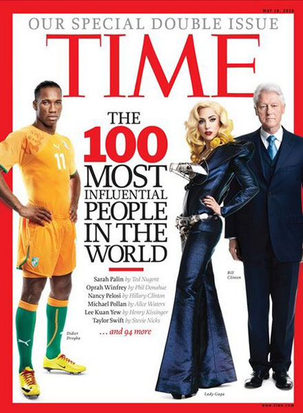 Lady GaGa is on Time's 100 Most Influential People Of The Year