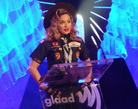 Madonna Appeared in a Cub Scout Uniform at The GLAAD Awards