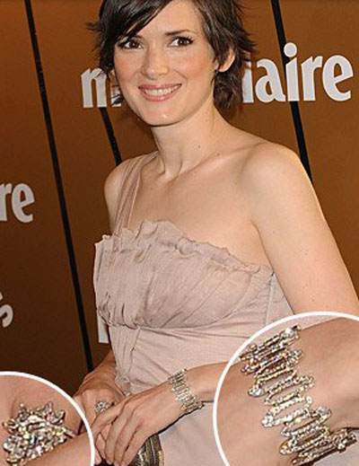 Winona Ryder Bulgari jewelry missing case