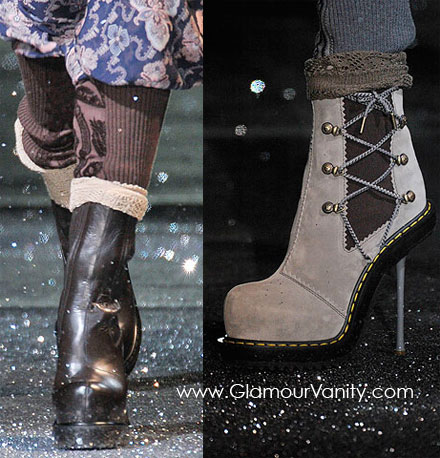 John Galliano's ankle boots from Fall/ Winter 2010 collection