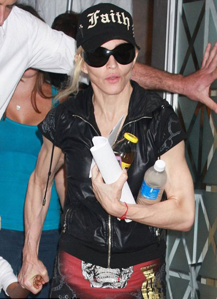 Five female celebrities with least attractive arms - Madonna
